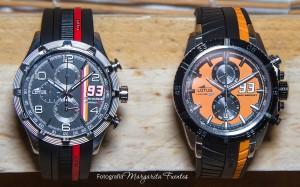 Relojes de la colección de Marc Márquez chrono GP con cajas de acero y correas de caucho.