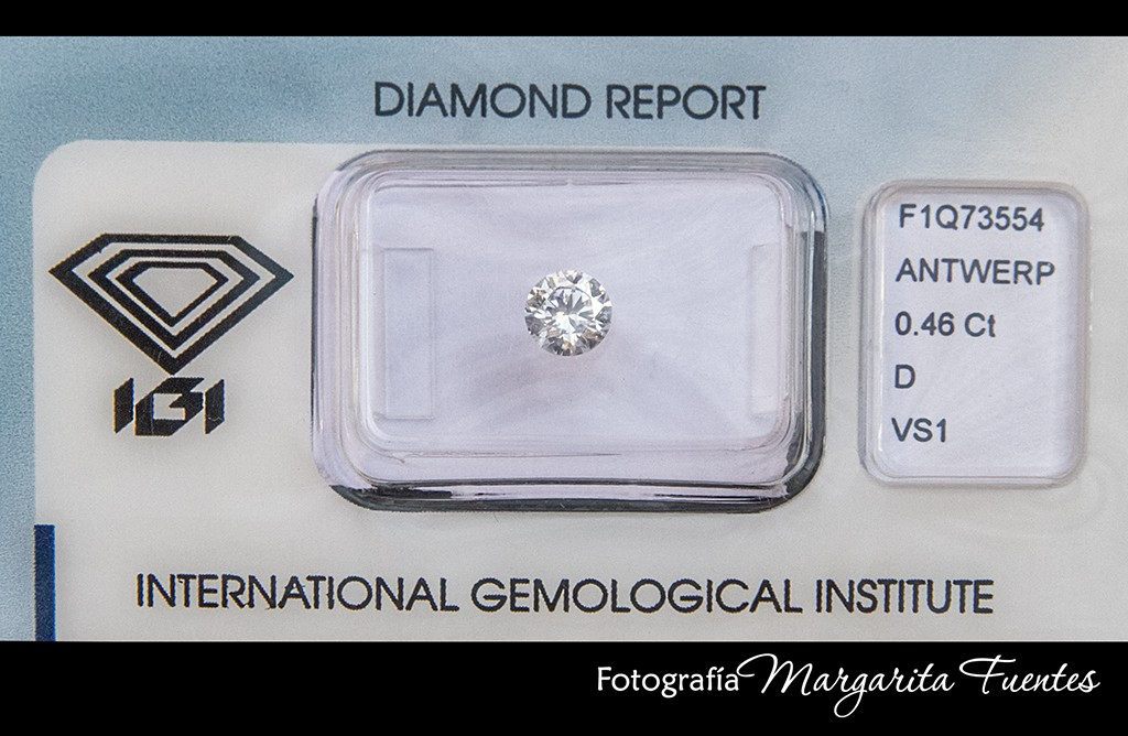 Diamante talla brillante certificado