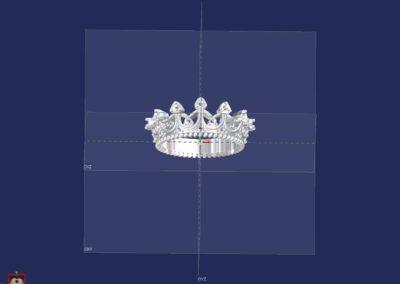 diseño sortija corona plata 01