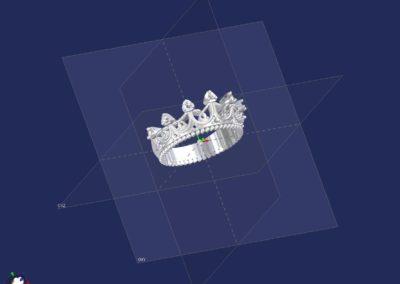 diseño sortija corona plata 03