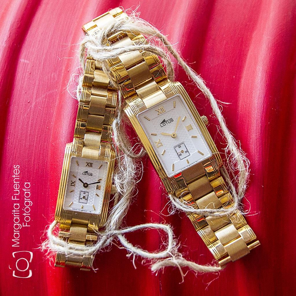 Relojes señora y caballero oro Lotus