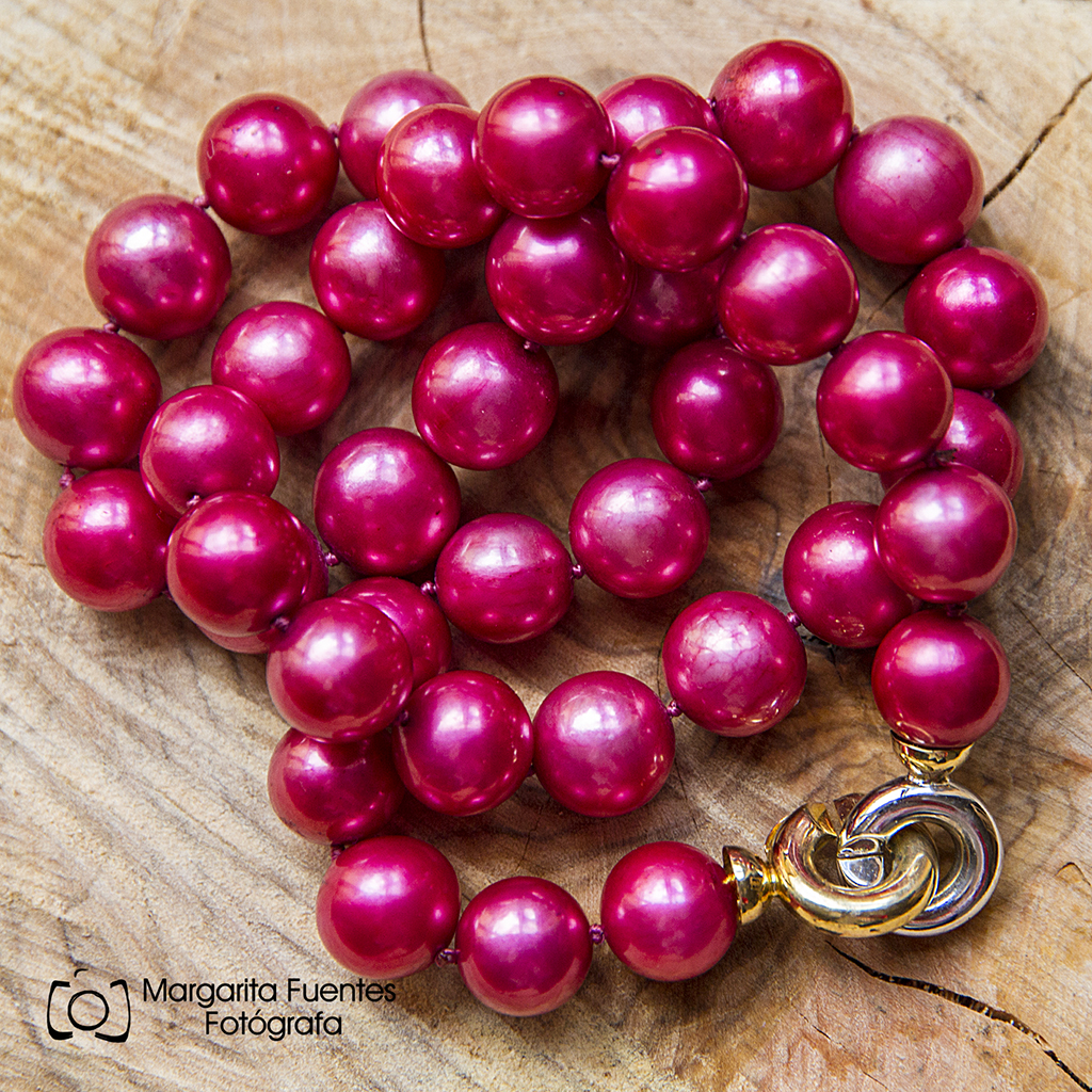 Collar Perlas Cereza. Naturales.