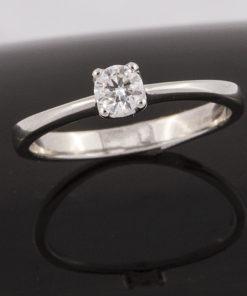 Solitario Platino y Diamantes 387812