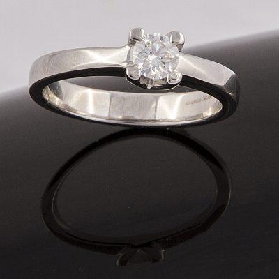 Solitario Platino y Diamantes 214712