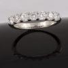 Anillo Media Alianza Platino 7 Diamantes 1,05 ct G/VS