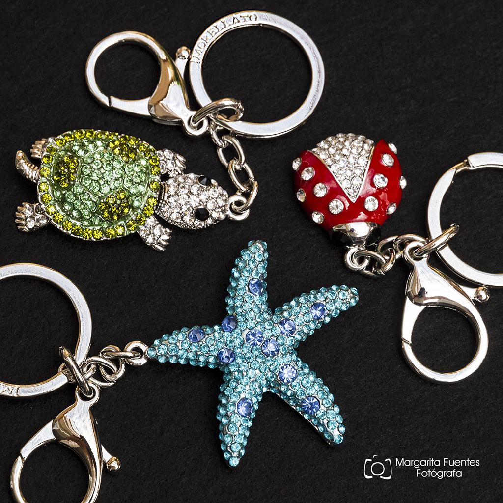LLaveros acero animales,estrella de mar, tortuga y mariquitas.