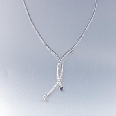 Gargantilla oro blanco con diamantes (0928005290)