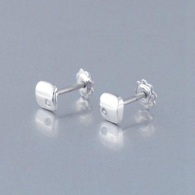 Pendiente Oro Blanco Diamante