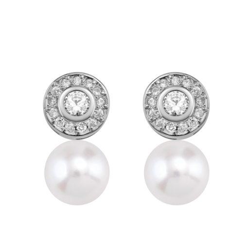 Pendientes con circonitas y perlas (75B0104ZP)