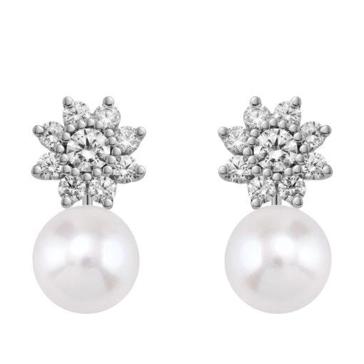Pendientes circonitas y perlas (75B0105ZP)