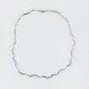 Gargantilla Novia Oro Blanco Diamantes Gargantilla de oro blanco 18k 84 diamantes talla brillante con un total de 1,02 ct H/VS2, longitud de 40 cm.