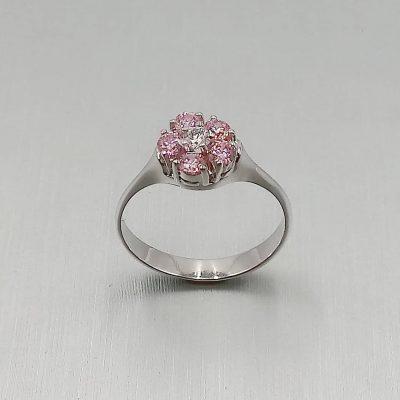 sortija oro blanco anillo de compromiso