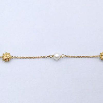 Pulsera Oro Amarillo Perlas 000080099