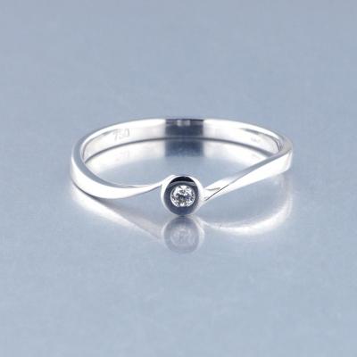 Solitario Oro Blanco Diamante 1143441455