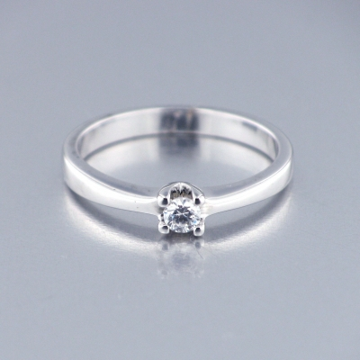 Solitario Oro Blanco Diamantes 5244391293