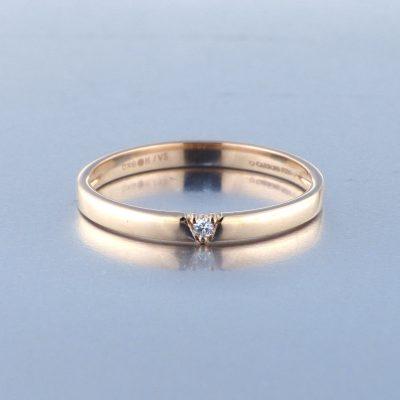 Solitario Oro Rosa Diamantes 4456811439