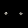 Pendientes Pequeños Corazón Brillante 0,02ct Argyor 0316335B