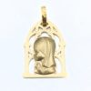 Medalla Virgen niña oro amarillo, elaborado en oro de 1ª Ley 18k, 750 milésimas, en color amarillo que aportan a esta joya durabilidad y resistencia