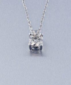 Collar, Gargantilla,Colgante Oro Blanco Diamante con cadena