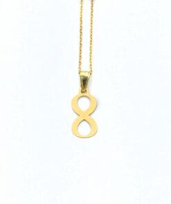Collar Mujer Infinito Oro Amarillo M-111363