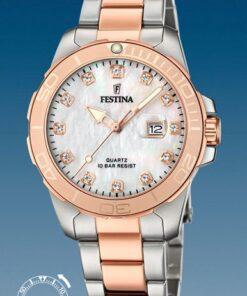 Reloj Festina Mujer Sumergible Acero Armis Bicolor Rosé F205051