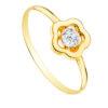 Anillo Niña Comunión Flor Circonita Oro Amarillo 20760-2