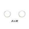 Pendientes Aro unisex Tubo 10mm Plata 00500615