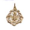 Medalla Virgen de Gracia Oro Amarillo Decorada