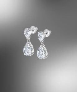 Lotus Silver Pendientes Largos Circonita Charming Lady LP2014-41
